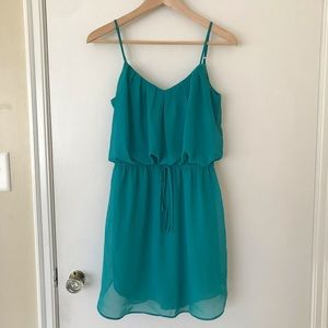 Bisou Bisou Teal dress